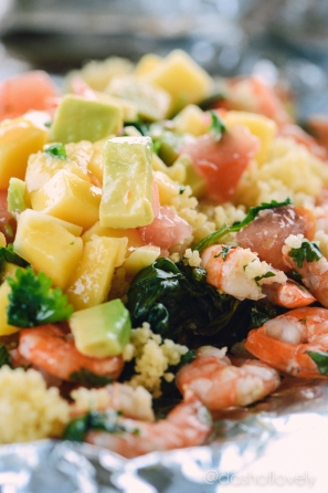 Shrimp with Avocado Mango Salsa